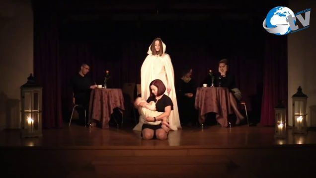 Teatr Amatorski Ole! działający przy MGOK w Oleszycach w spektaklu A kiedy mnie już nie będzie